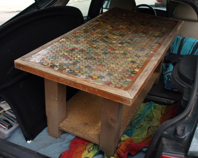 Beer Bottle Coffee Table. Beer Bottle Cap ...